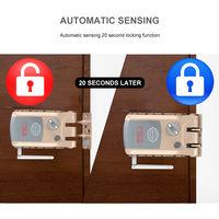 Invisible Serrure De Porte Intelligente, Autobloquante, Avec 4 Telecommandes