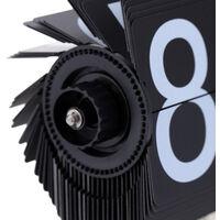 Horloge De Table A Petite Echelle, Horloge A Bascule, Acier Inoxydable