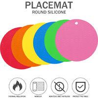 Tapis Isolant Pour Vaisselle, 6 Pcs, Multicolore, Texture Vague