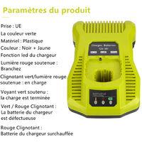 Double Chimie Intelliport Chargeur Pour Tous Ryobi 12V-18V One + Batterie Au Lithium Et Nicd Chargeur De Batterie Universel Ryobi One + P104 P105 P102 P103 P107 P108 Outils 18V