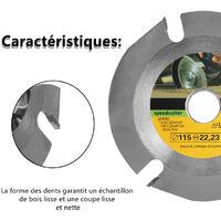 115Mm 3 Dents De Scie Circulaire Web Multifonctions Affuteuse Grinder Scie Disque Carbure Incline Coupe De Bois Lame Accessoires Electroportatif