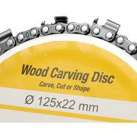 5 Pouces 14 Dents Grinder Chaine Disque 22Mm Arbor Travail Du Bois Carving Disque Pour 125Mm Meuleuse D'Angle Et Scie Circulaire