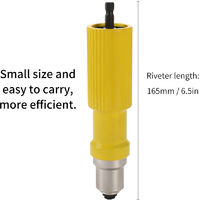 Electrique Rivet Nut Riveteuse Outil Sans Fil Rivetage Drill Adaptateur Riveteuse Inserer Outils Appropries Pour Ecrous 3.2-4.8Mm Rivets Interface