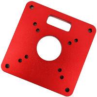 Routeur Aluminium Table Inserer Disqueuse Rouge Parage Universelle De Flipboard Pour Routeur Travail Du Bois Bancs Table Plate