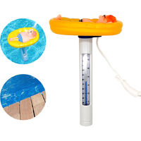 Flottant Thermometre De Piscine ¡æ / ¨H Precise De La Temperature Lectures Cartoon Piscine D'Eau Thermometre Avec Chaine