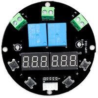 Dc 12V Humidite Regulateur De Temperature Module D'Affichage Numerique Thermometre Hygrometre Carte Controleur 1M Double Capteur Sorties Relais