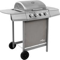 Barbecue gril a gaz avec 4 bruleurs Argente
