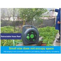 10 Mteres retractable Devidoir mural manuel tuyau d'arrosage de jardin rack Tuyau de stockage d'eau, vert fonce