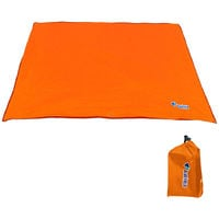 Bluefiled Impermeable Plage Tapis D'Exterieur Blanket Portable Mat Pique-Nique Multifonctionnel Camping Bebe Grimpez Tapis De Sol Matelas, Orange, S