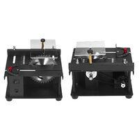 Multi-Fonctionnelle Scie A Table Mini Bureau Scie Cutter Machine De Coupe Electrique Avec Lame De Scie Reglage De L'Angle Reglage De La Vitesse De 35 Mm Profondeur De Coupe Pour Le Bois En Plastique Acrylique Coupe