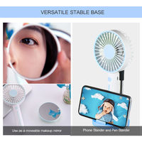 Ini Portable Ventilateur Bureau Usb Ventilateur 3 Vitesse Reglable Mini Usb Fan Personnelle Rechargement A Piles Petit Bureau De Refroidissement, Bleu