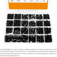 Acier 1060Pcs Carbone Cylindre A Tete Hexagonale Combinaison Boulon M2 M3 M4 M5 Ecrou A Six Pans Rondelle Vis Kit Combine