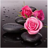 Diy 5D Diamant Peinture Rose Rose Strass Broderie Pleine Drill Gem Photos Wall Art Artisanat Et Decoration