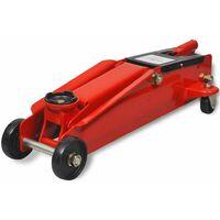 Cric de plancher hydraulique a profile bas 3 tonnes Rouge
