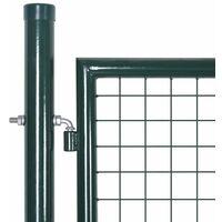 Portail de Cloture en Grillage Galvanisee 289 x 175 cm / 306 x 225 cm