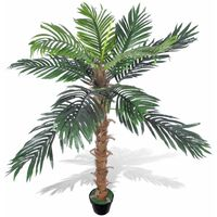 Palmier Artificiel Plastique avec Pot 140 cm