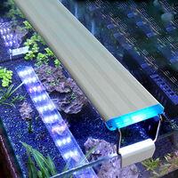 Aquarium Led 38Cm / 14.96In Fish Tank Lumiere 5.12In Supports Led Blanches Extendable Bleues Pour Reservoirs D'Eau Douce Plantees, L