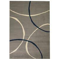 Tapis moderne Design de cercles 80 x 150 cm Gris