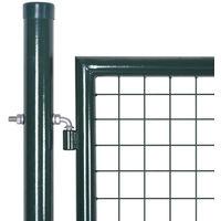Portail de Cloture en Grillage Galvanisee 289 x 75 cm / 306 x 125 cm
