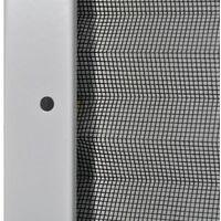 Moustiquaire plissee pour fenetre Aluminium 80 x 100 cm