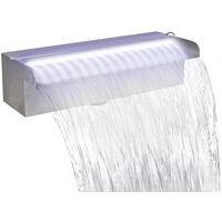 Lame d'eau rectangulaire a LED 30 cm en acier inoxydable pour piscine