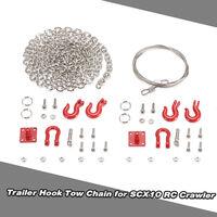 1/10 Rc Remorque Crochet De Remorquage Chaine Manille Support Pour Axial Scx10 Tf2 Sur Chenilles Partie