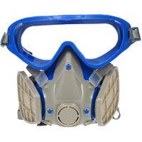 Silicone Facial Anti-Poussiere Masque Masque Poussiere Anti-Particules Masque Protection Anti-Poussiere Avec Lunettes Protection Du Travail Produit