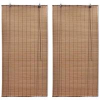 Stores roulants en bambou 2 pcs 150x220 cm Marron
