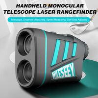 600m exterieur Pulse Laser Range Finder Telemetre 6X poche telescope monoculaire Telemetre Laser exterieur Distance Hauteur Angle Outil de mesure
