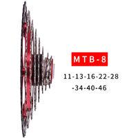Vtt 8 Vitesses 11-46T Cassette Roue Libre Vtt Pieces De Velo £¬ Argent Et Noir