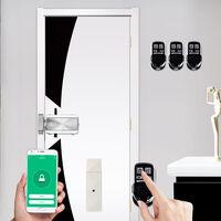 Kit De Verrouillage De Porte Ewelink Wifi Smart Home, Serrure Electronique D'Entree Sans Cle Telecommandee, 4 Telecommandes