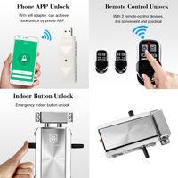 Kit De Serrure De Porte Ewelink Wifi Smart Home, Serrure Electronique D'Entree Sans Cle Telecommandee, 2 Telecommandes
