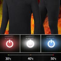Vetements Chauffants Intelligents, Vetements Chauffants A Chargement Usb, Noir, Pantalons Pour Femmes, Taille L
