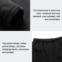 Vetements Chauffants Intelligents, Vetements Chauffants A Chargement Usb, Ensemble Noir Pour Femme, Taille M