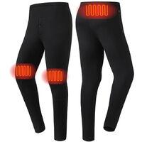 Vetements Chauffants Intelligents Vetements Chauffants De Chargement Usb, Pantalons Pour Hommes, Noir, Taille 5Xl