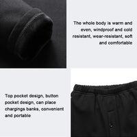Vetements Chauffants Intelligents, Vetements Chauffants Usb, Noir, Combinaison De Code 2Xl Pour Hommes