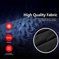 Gilet Chauffant Exterieur Charge Usb Combinaison Chauffante En Fibre De Carbone, Rouge, Taille S