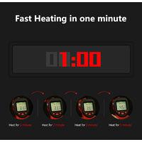 Gilet Chauffant Exterieur Charge Usb Combinaison Chauffante En Fibre De Carbone, Noir, Taille 4Xl