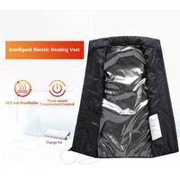 Gilet Chauffant Exterieur Usb Chargeant Des Vetements Chauffants En Fibre De Carbone, Rouge, Taille 3Xl