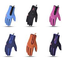 Gants D'Exterieur A Ecran Tactile Antiderapants, Gants D'Equitation Chauds, Violet, Taille M