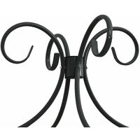 Cadre de lit a baldaquin Noir Metal 100 x 200 cm