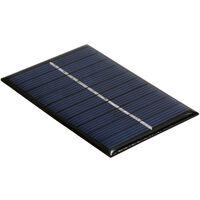 Mini Panneau Solaire Silicium Polycristallin Portable Diy Camping Etanche Pour Jouets Lampe Ventilateur Pompe De Jardin, 0.5W 5V
