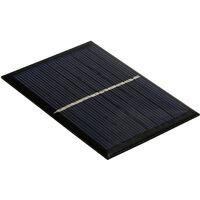 Mini Panneau Solaire Silicium Polycristallin Diy Camping Etanche Portable Pour 3.7V Jouets Lampe Ventilateur, 0.7W 5V