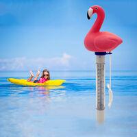Kkmoon Flottant Piscine Thermometre Etang Thermometre Eau Avec Piscine Chaine Bebe Thermometre Resistant A L'Exterieur Shatter Et Piscines Interieures Spas Hot Tubs (Flamingo)