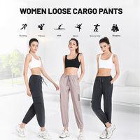 Salopette Pour Femme, Pantalon De Yoga Extensible A Sechage Rapide Avec Poches A Cordon, Kaki, Taille Xl