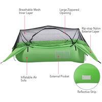 Tente A Coussin D'Air 2 En 1, Canape Pneumatique Gonflable, Tente De Suspension De Camping En Plein Air Portable Avec Toit, Rose