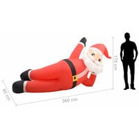 Pere Noel gonflable LED IP44 Rouge 360 cm XXL