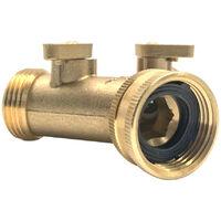 Y Forme Soild laiton fil a deux voies Adaptateur Raccord de tuyau souple Tube separateur de jardin d'irrigation commun