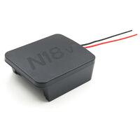 M18 18V Adaptateur batterie Convertisseur Compatible avec Milwaukee M18 Serie 18V Batterie au lithium M18 18V Power Tool Li-ion rechargeable DIY Adaptateur