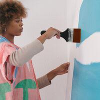 1pc plat Pinceau en nylon Garniture Art Paintbrush Poignee en bois pour Gesso Teintes Peinture acrylique Colles Vernis Huile Gouache Aquarelle Peinture murale de meubles de maison propre, No.6